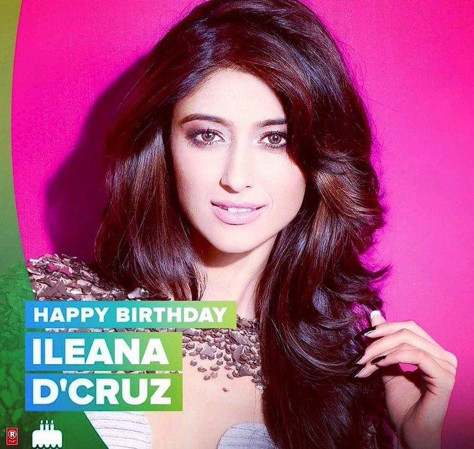 Here\s wishing the stunning diva Ileana D\Cruz a very Happy Birthday!