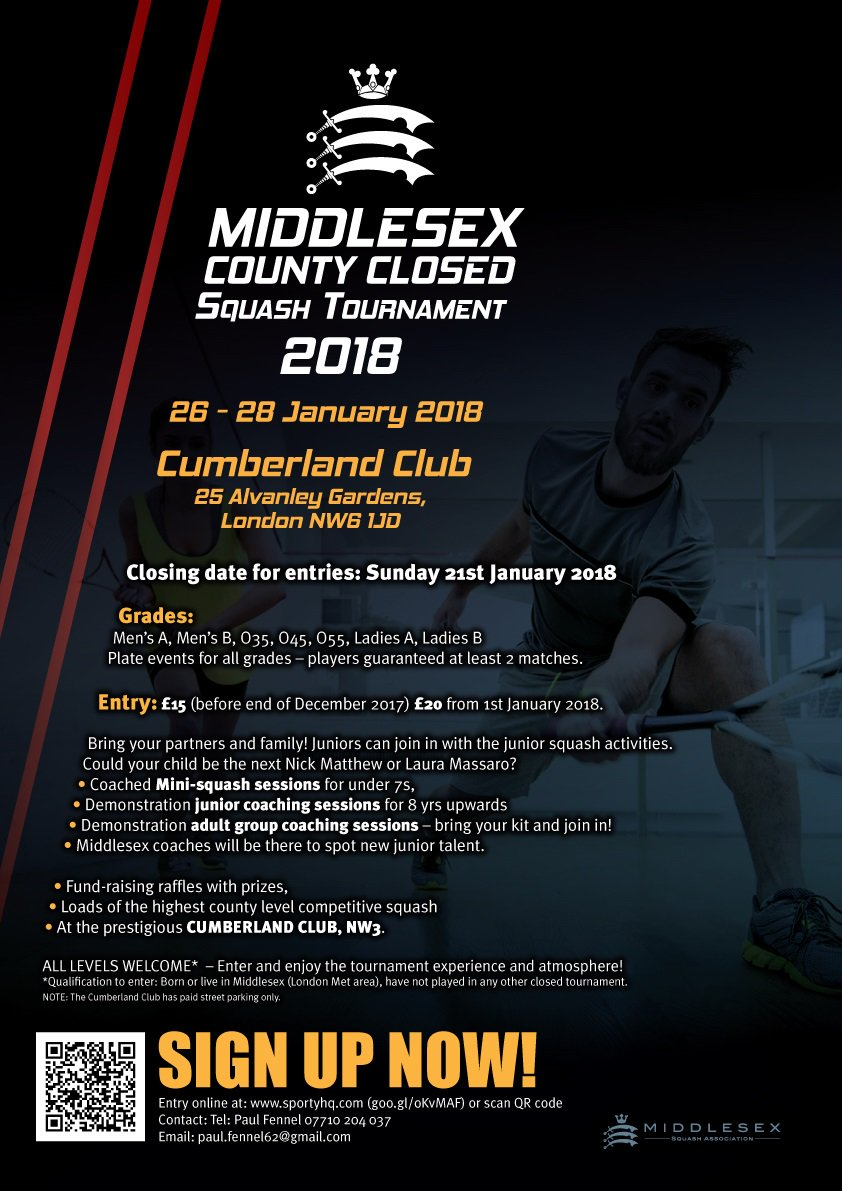 Middx Junior Squash On Twitter Middlesex Closed Tournament Now