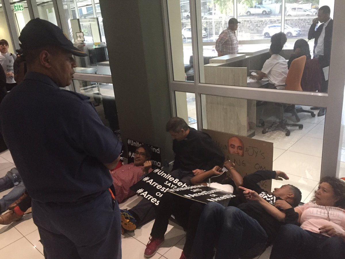 8 UniteBehind activists arrested after staging sit-in at NPA office and demanding President Zuma's arrest