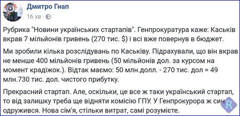 Сын министра МВД просил детективов НАБУ вызвать его на допрос по повестке, а не в телефонном режиме, - САП - Цензор.НЕТ 246