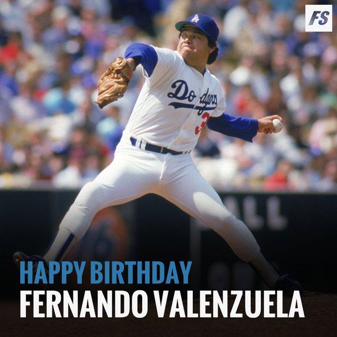 Happy Birthday to legend Fernando Valenzuela!