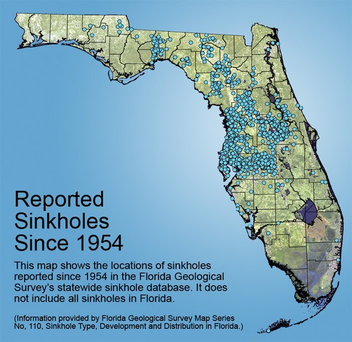 Five Sinkholes Of NewGOZ Where In The United States Is Nature - Map ot the us
