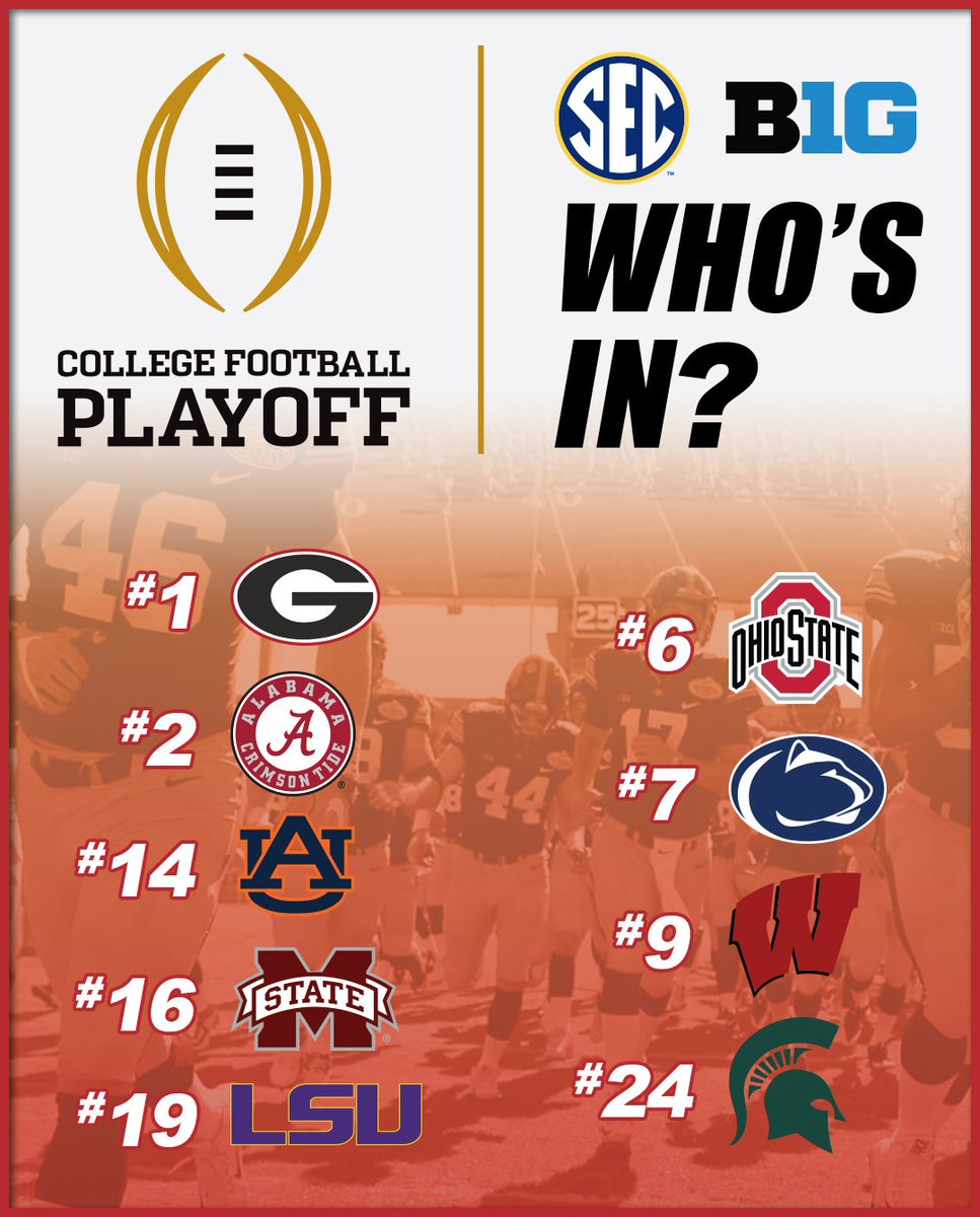 College Football Playoff Rankings are ou...