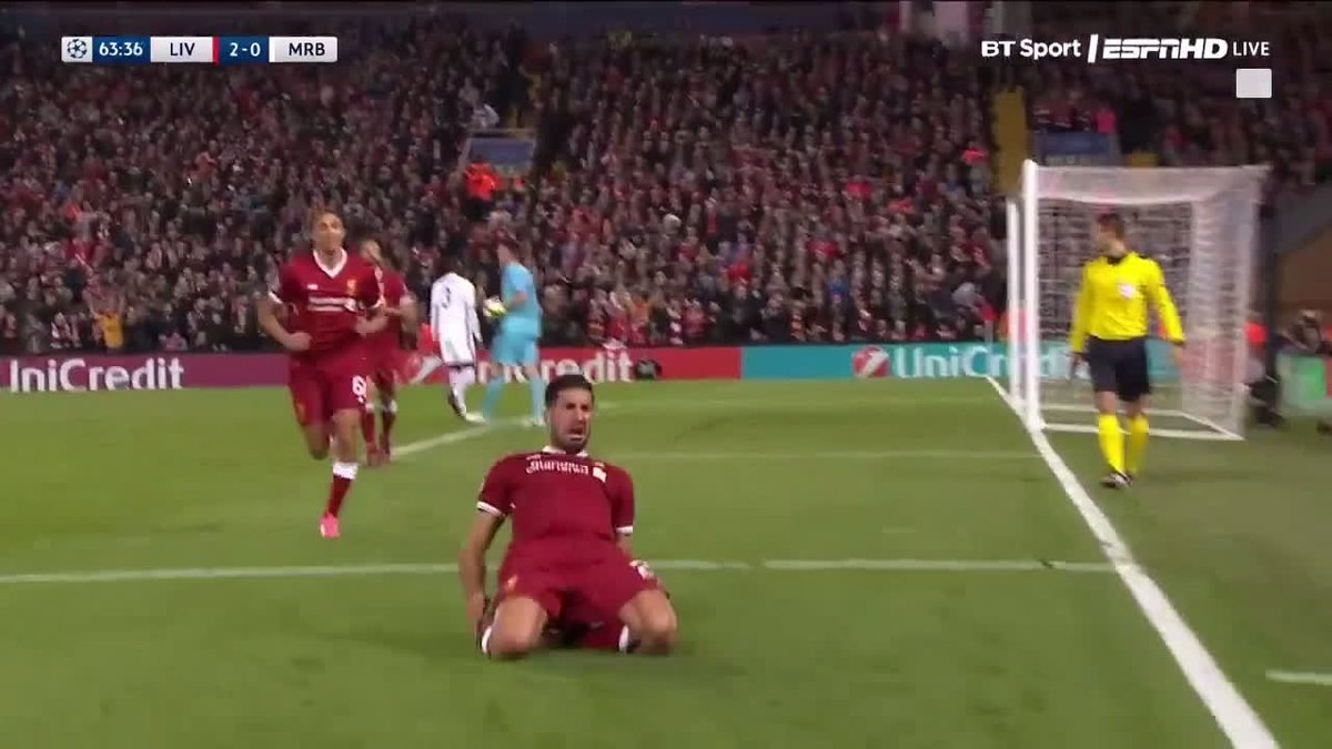 Football On Bt Sport Twitter A Champagne Goal Emre Can Mrb Crystal Make Up Base Combines With James Milner To Score Beautiful Liverpool