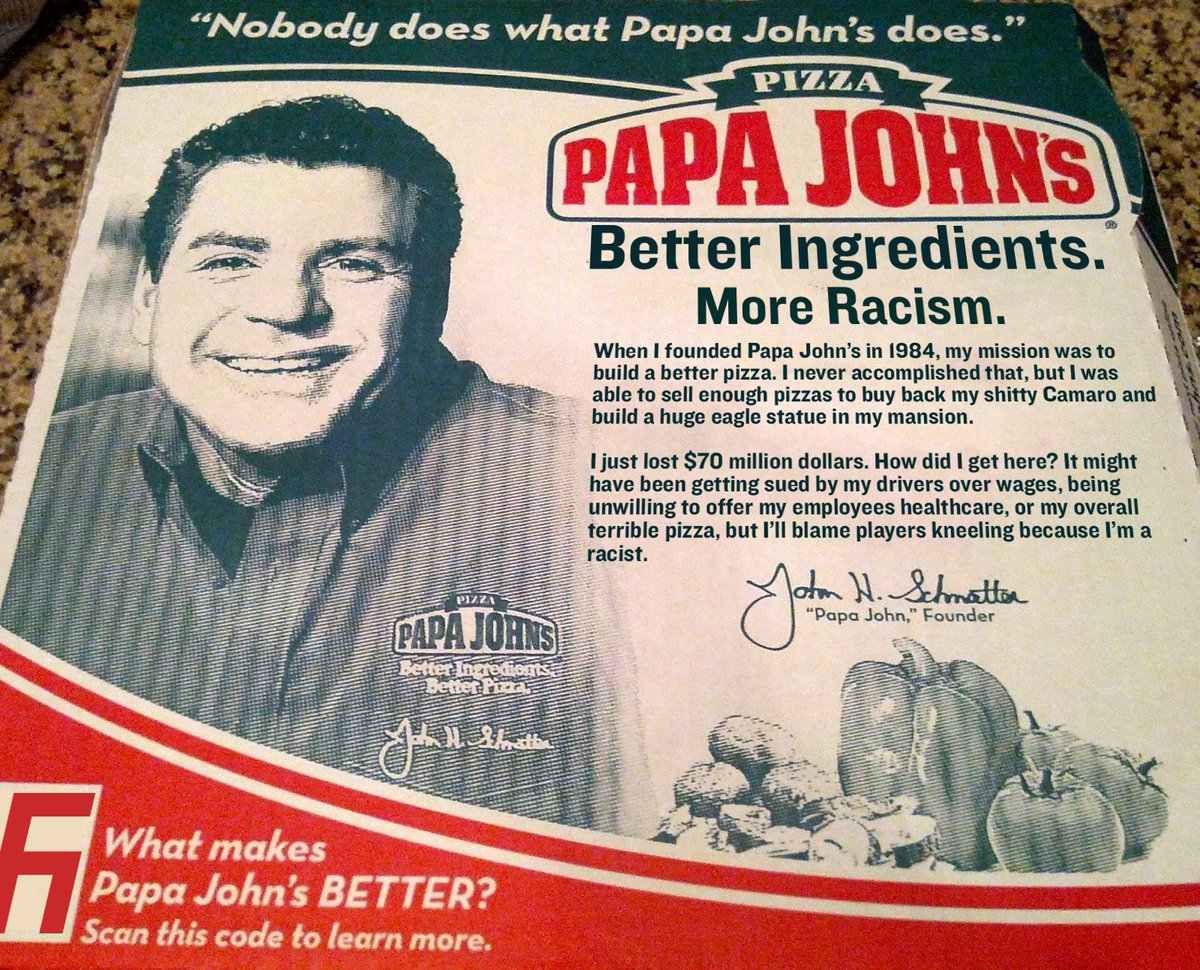 Papa John's: Better Pizza, More Racism.