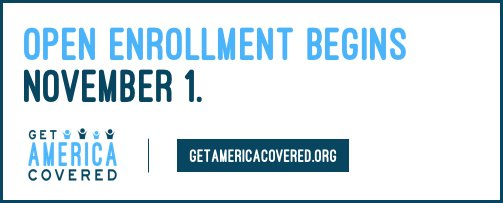 That means ACA open enrollment starts today 🗓 Find a plan that works for you here: http://healthcare.gov