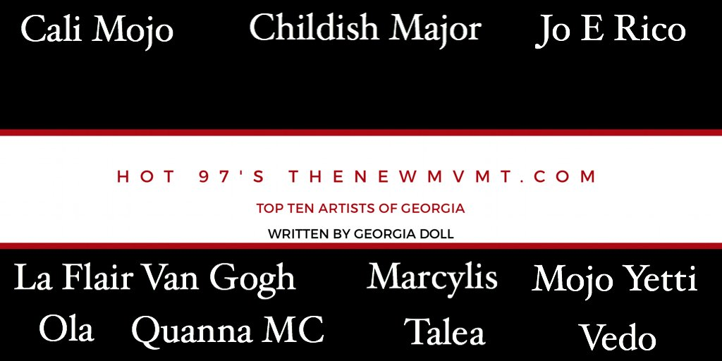 RT @georgia_doll: Blog: Hot 97's @TheNewMvmt Top Ten Artists of Georgia  https://t.co/Dy6ZSpE9oU https://t.co/UerlQASFcZ