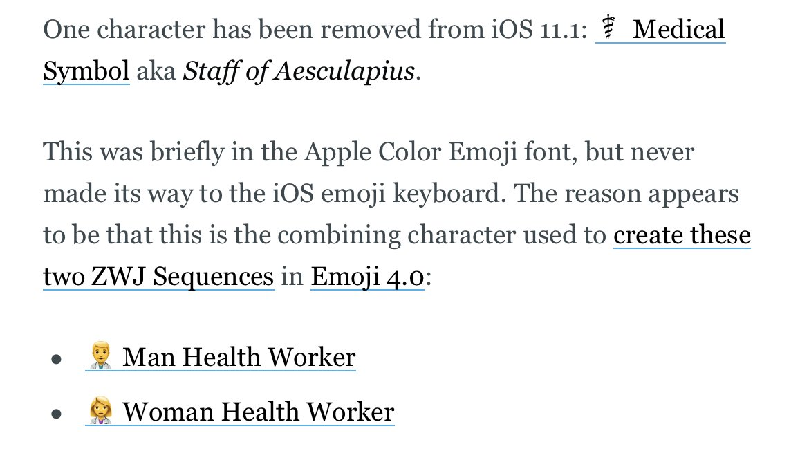 Emojipedia on twitter medical symbol was removed from medical symbol was removed from the ios 111 emoji font but it was never on the keyboardpicitterio3z2qb1ng biocorpaavc