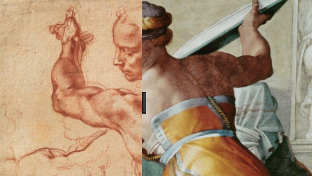 Michelangelo Studies For The Libyan Sibyl