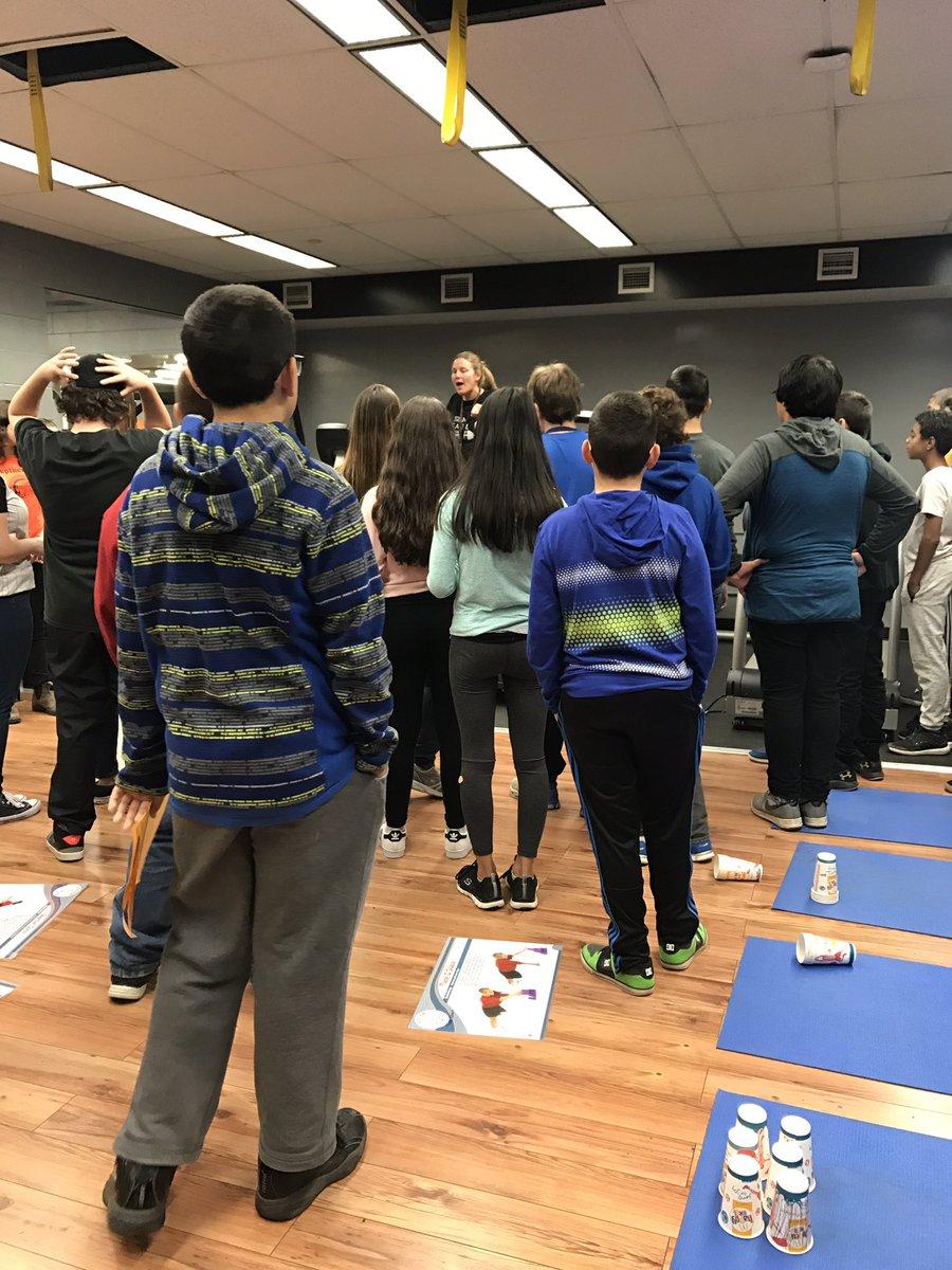 @TrepMartha explains the fitness room &#Trainlikeagirl/TrainlikeaTrojan to the grade 8s. @ClarkeRoad #reptheroad<br>http://pic.twitter.com/25VXDKKuo7