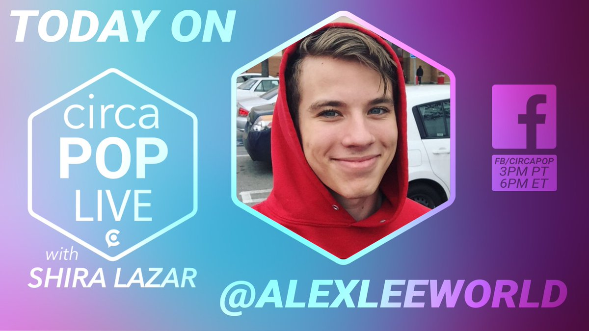 .@AlexLeeWorld from Target is hanging out w/ @shiralazar from #CircaPopLive today at 3pm PT! Come hang w/ us! 🙌 😍  https://t.co/TBvXLH4vjw https://t.co/YORyBwJIkF