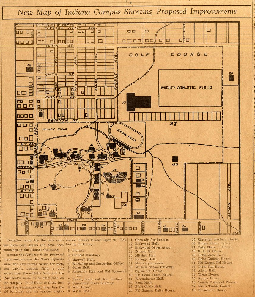 Indiana U Archives On Twitter This 1915 Campus Map Of