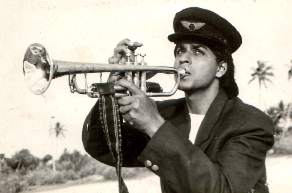 Image result for shahrukh khan trumpet