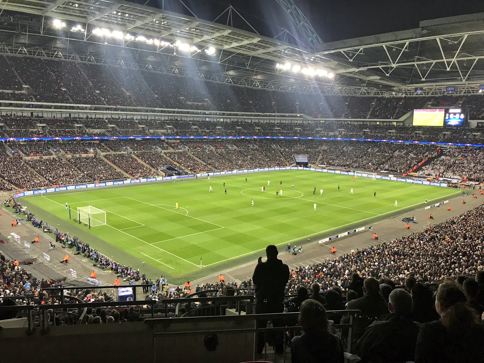 The @btsportfootball studio views this evening at Wembley! Predicting a 1-2 #Madrid win... thoughts people?! #UCL https://t.co/phEVCl2cOb