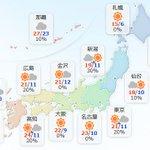 【11月2日(木)】北海道は晴れ間が広がるでしょう。東北は雲が広がりやすく、朝晩は雨の降る所も。関東…