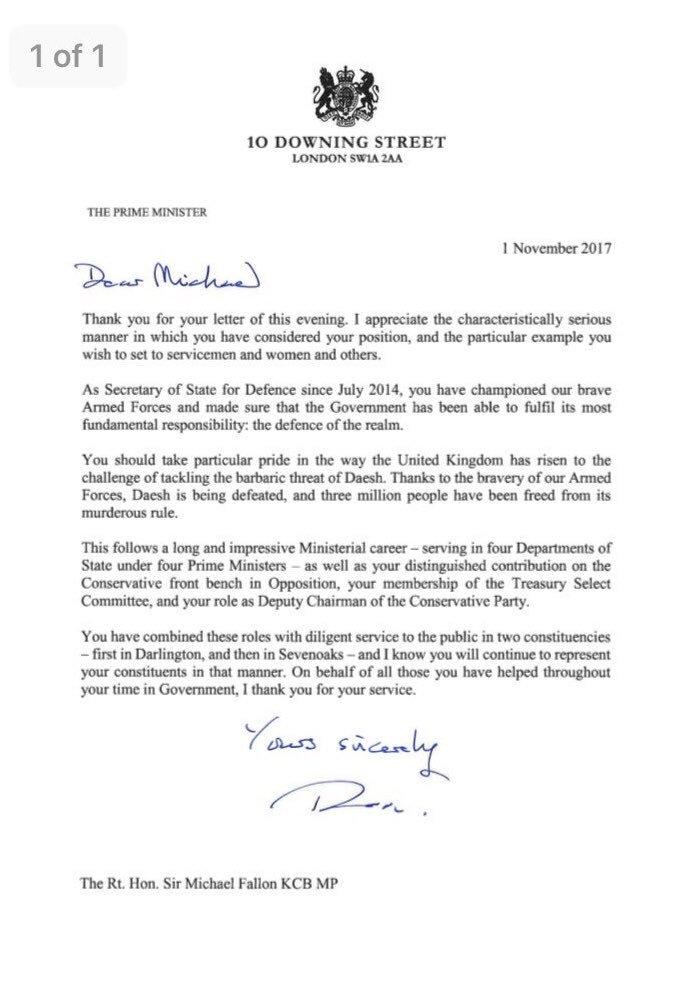 Bbc politics on twitter sir michael fallons resignation letter 1253 pm 1 nov 2017 expocarfo