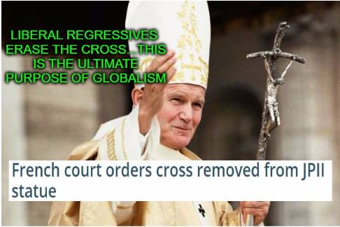 French court orders cross removed from JPII statue https://t.co/LQ3PctfrLy #Christian #Persecution #France
