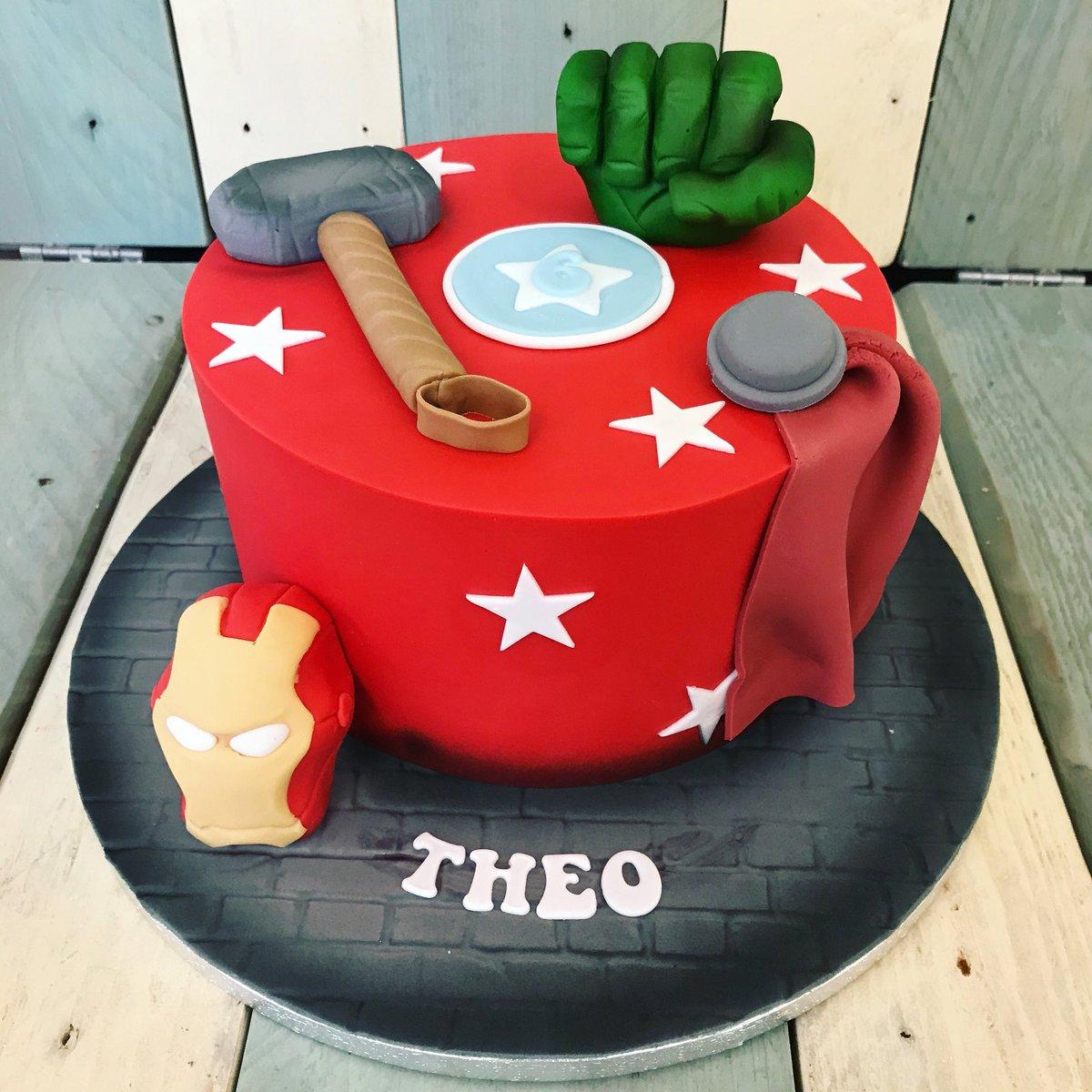 Awesome Jons Cakes On Twitter Marvle Hulk Ironman Thor Personalised Birthday Cards Paralily Jamesorg