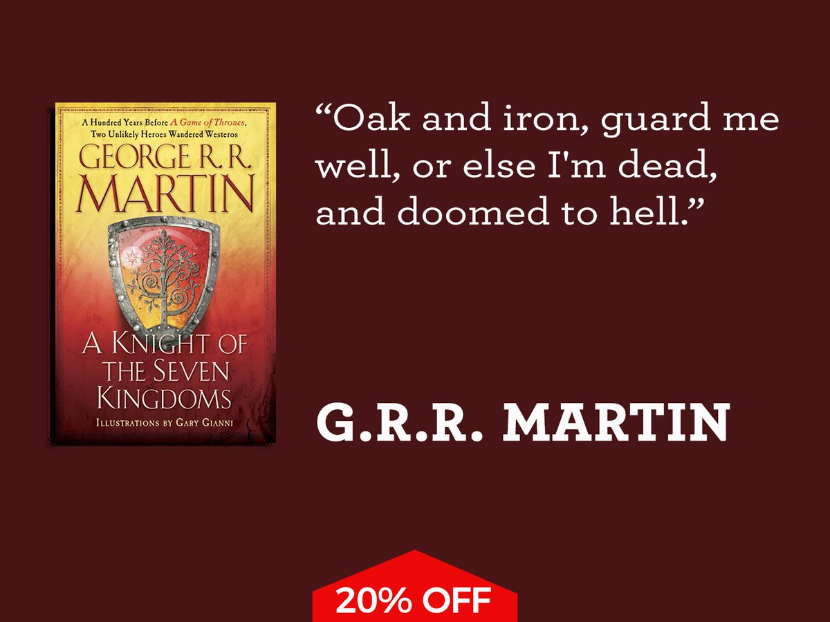 National Book Store On Twitter A Knight Of The Seven Kingdoms By George Rr Martin Illustrated Gary Gianni Save P9980 Before P499 Now P39920