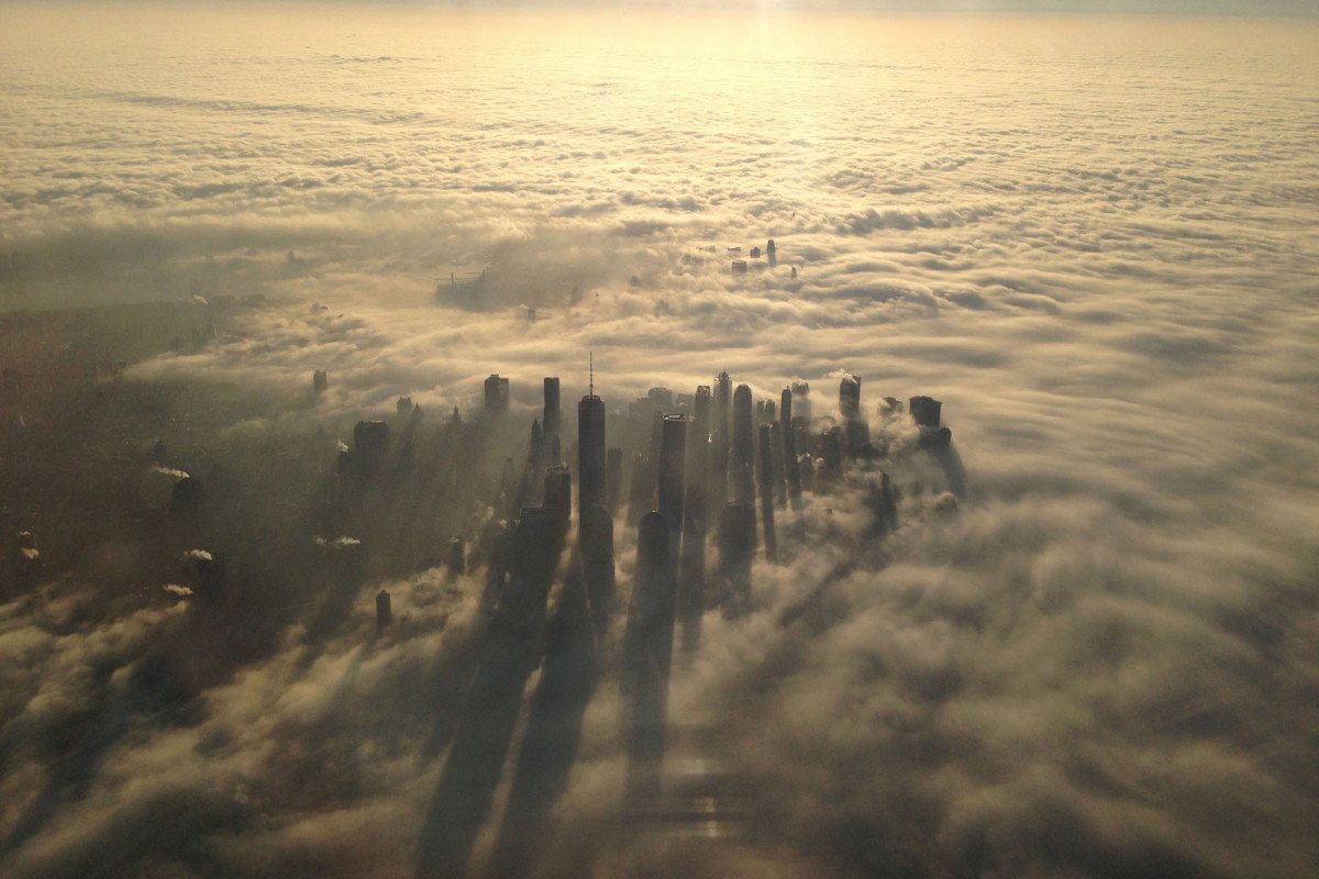 An awesome foggy picture of our beautiful Manhattan! #NewYorkCity #NYC
