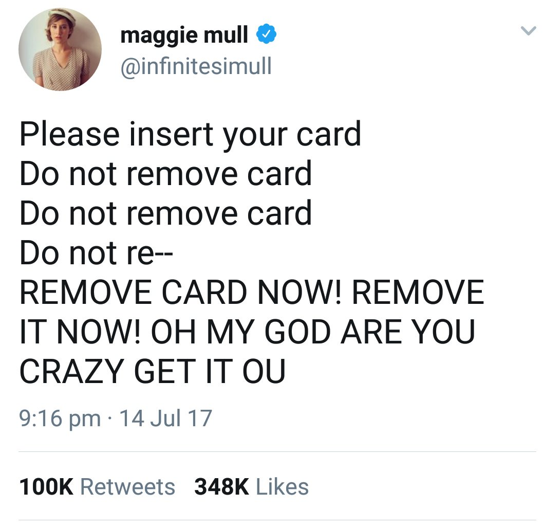 Anil Dash On Twitter Do Not Remove Your Card From The Chip