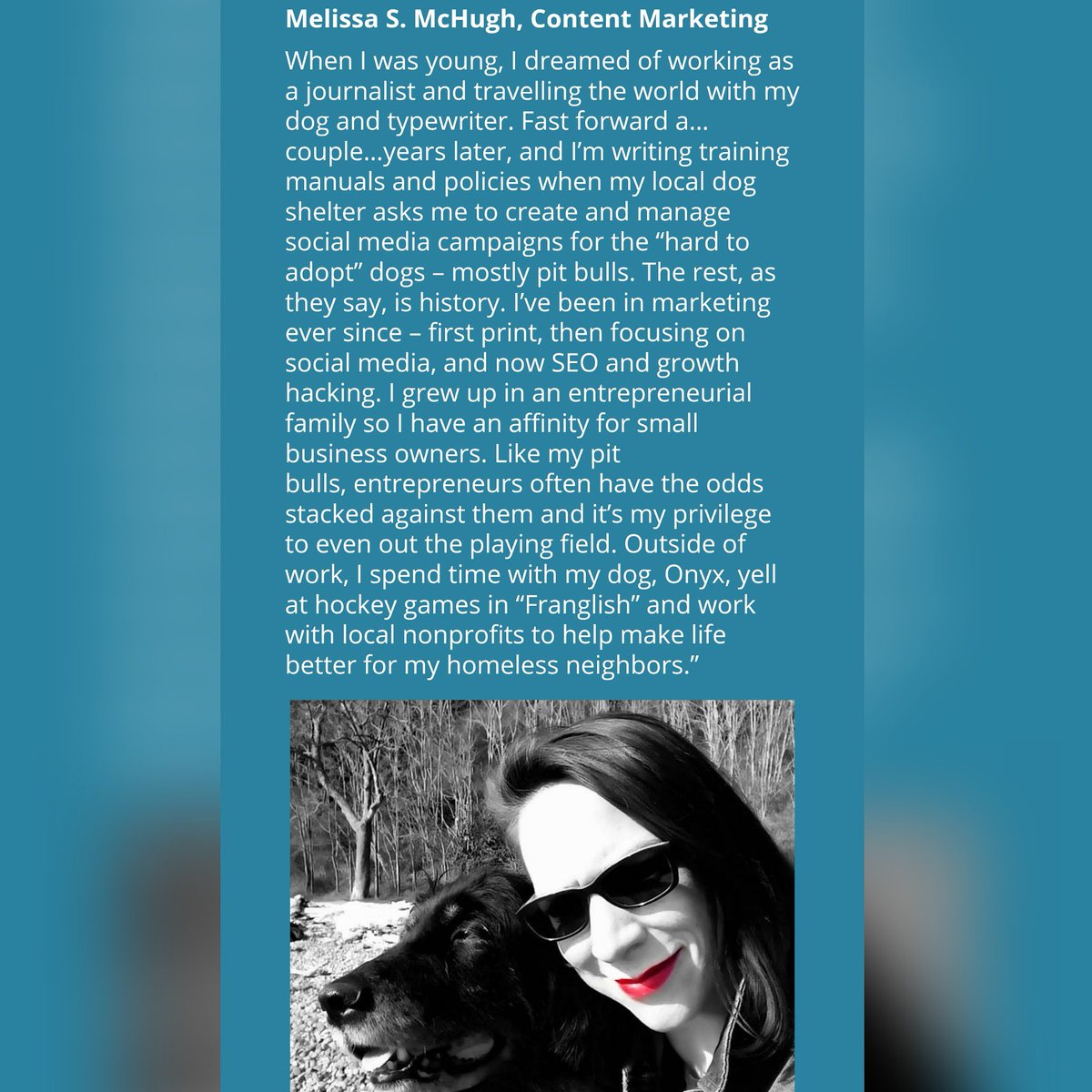 The best part of today is sneaking my #dog into my bio @RightThinkInc? 😍😂 #ineedtogetoutmore #branding #rightthink #digitalnomad