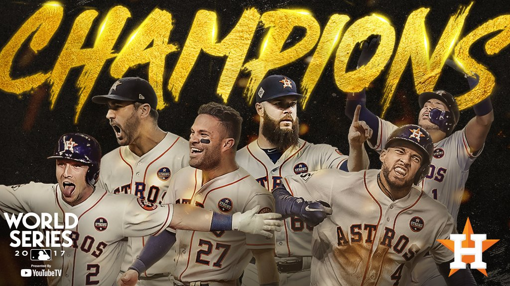 #CHAMPS  The @Astros win their first #WorldSeries in franchise history!