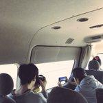 徳島へ向かってます。明石海峡大橋なう。盛り上がってるミーハーな二人。#その景色東京でも撮れるで pi…
