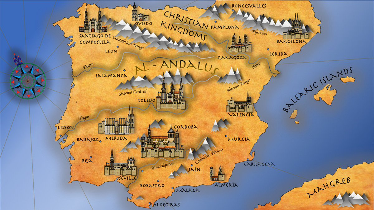 Zaragoza Map Of Spain.Flashpointhx On Twitter Map Finally Done Alandalus Spain