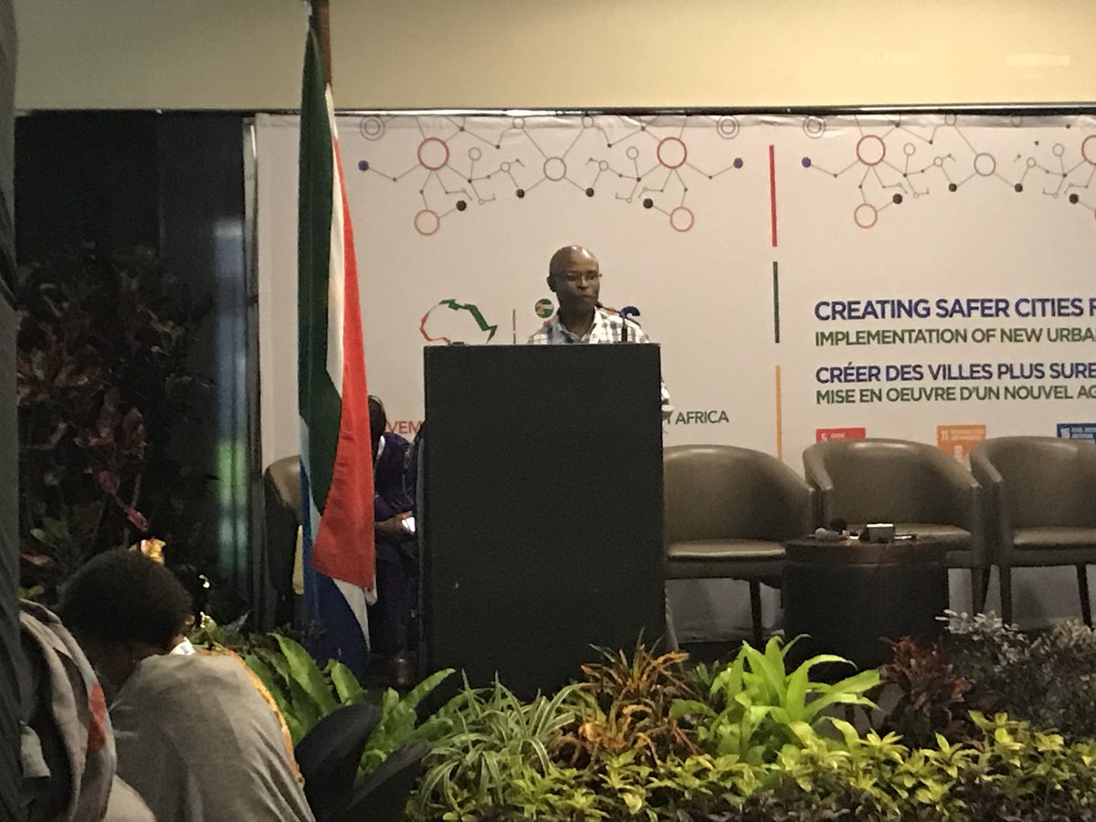 Bongumusa Zondo introducing the Ethekweni Safety Strategy