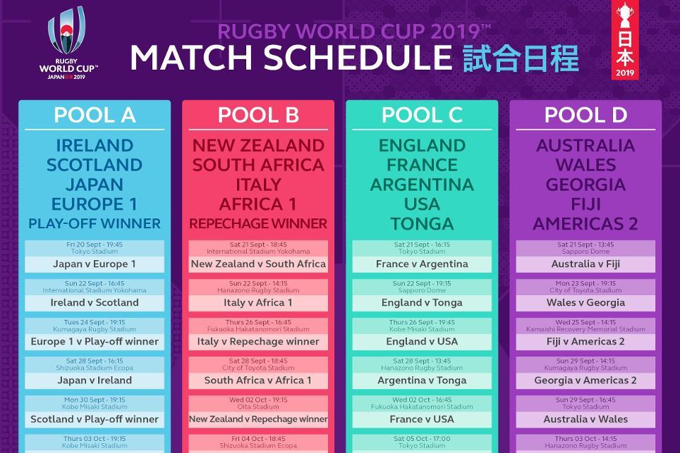 Mondiale Calendario.Mondiale Rugby Calendario Mondiale Rugby Rwc Eurosport