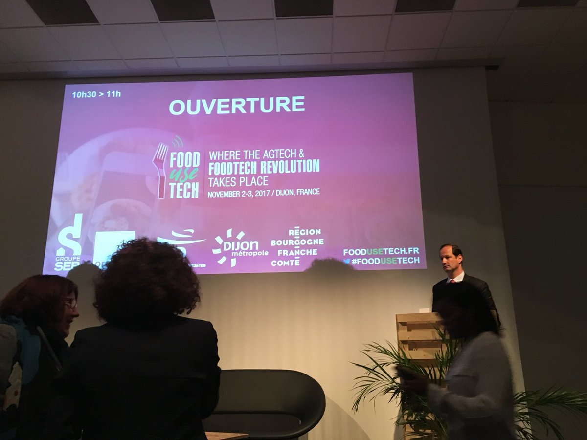 Conference ouverture @Platofjour #FrenchUseTech #foodtech #appli #platdujour #food #appli #dijon @LaFoodTech<br>http://pic.twitter.com/wmYkaBEv47