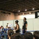 名古屋でお仕事だったので、名古屋から、ツインメッセ静岡にお邪魔しました❗まずは、第一試合💪レオ・トン…
