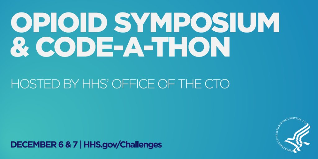 Join @HHSGov  Opioid Symposium via livestream on Dec 6. Register here: https://t.co/20yXLqfyEE #DataforOpioids v https://t.co/htM5SikOMc