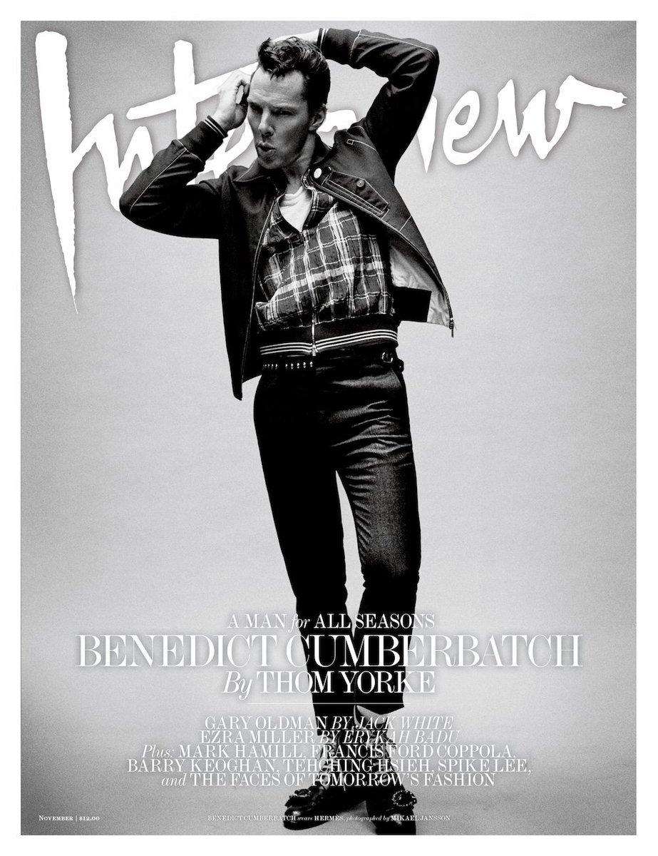 Resultado de imagen de BENEDICT CUMBERBATCH interview magazine