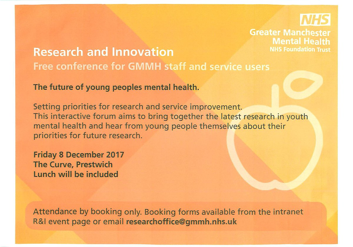 """Library and Knowledge Services on Twitter: """"Future of Young People's Mental  Health: setting priorities for research and service improvement 8.12.17 The  ..."""
