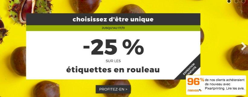 #Profitez de 25% de #remise sur les #étiquettes en #rouleau chez #Pixartprinting code #promo STICKERS_4_EVERYONE  https:// goo.gl/tFQHBb  &nbsp;  <br>http://pic.twitter.com/cX7lt0M61R