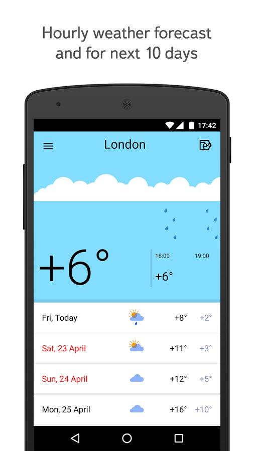 Скачать погода на андроид