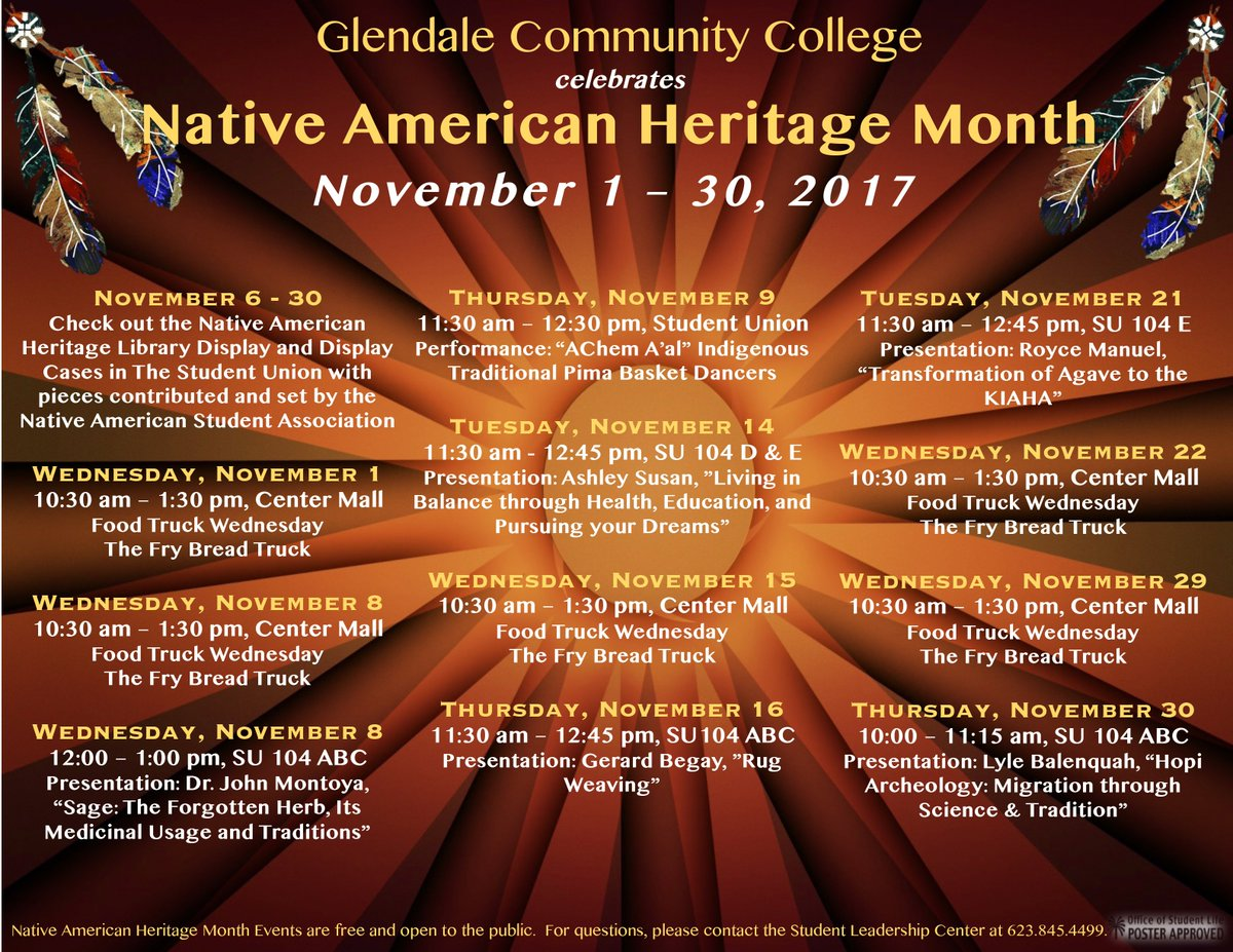 Gcc Calendar.Gcc On Twitter November Is Native American Heritage Month Join Us