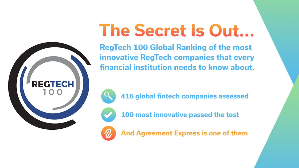 Agreement Express On Twitter Regtech100 Results Are Out Proud To
