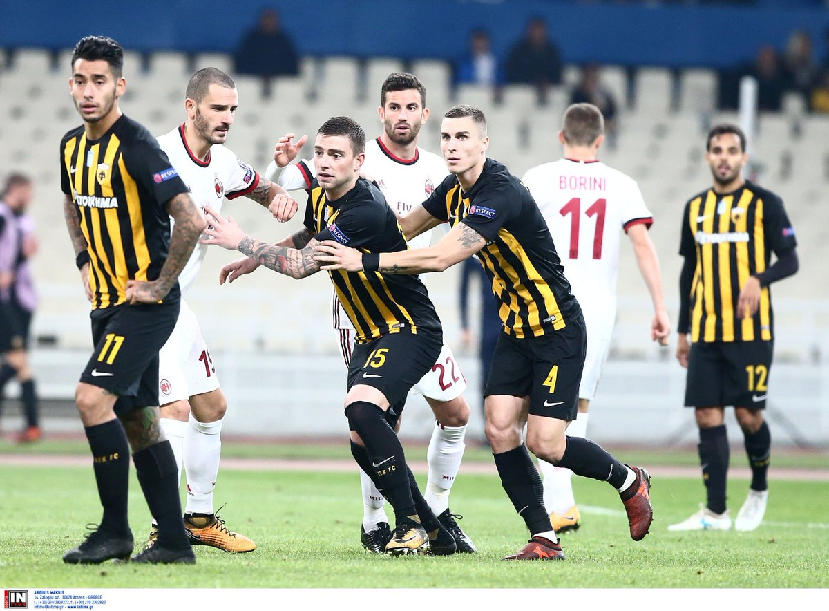 AEK Athens vs AC Milan Europa League 2017/2018