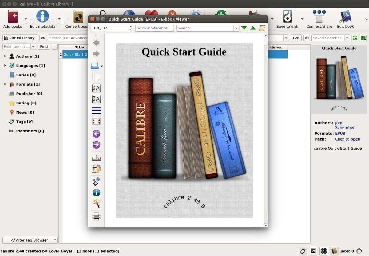 ebook reader linux