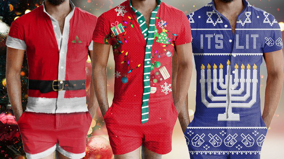 ea5164d4568c there are ugly christmas rompers for men and big sweater is gonna be pissed