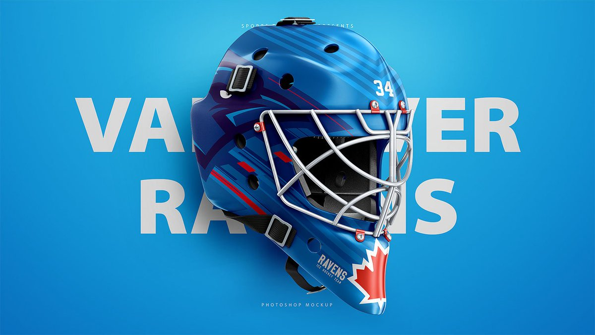 Our Hockey Goalie Template Is Out Grab The PSD Sportstemplates Product Mask