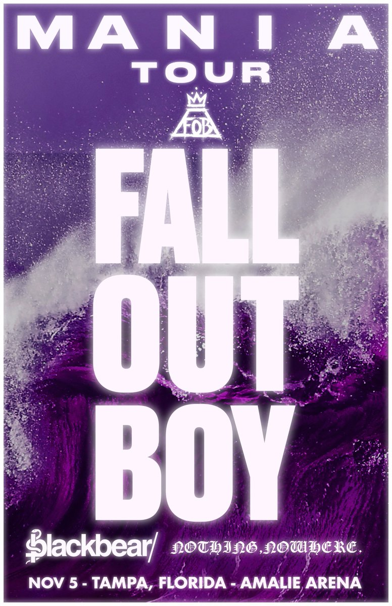 Fall Out Boy On Twitter Tampa Nothingnowhere Will Be Opening Up