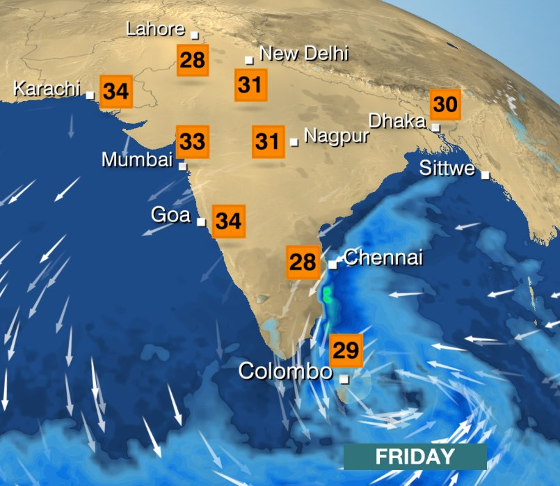 Chennai has already seen over 200mm in past 3 days. 300-500mm more rain possible in next few days. Phil