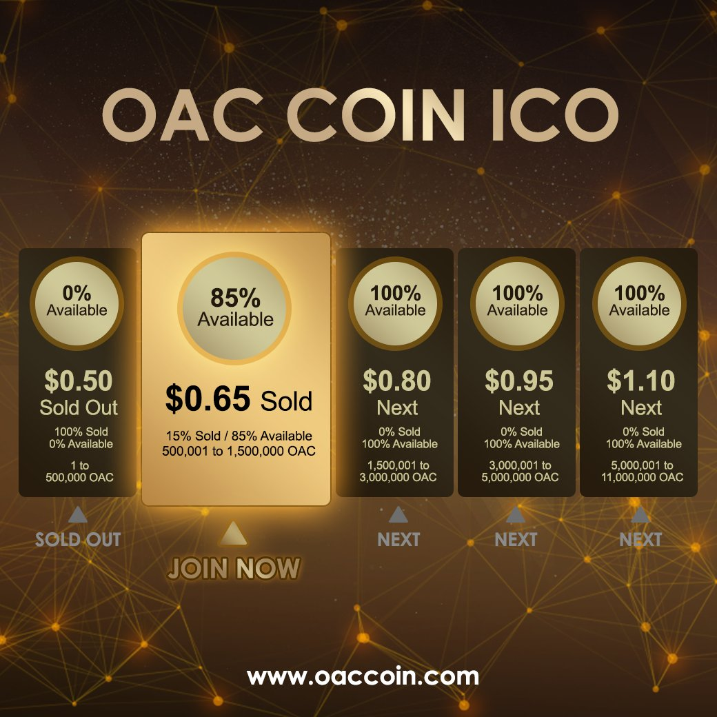 OACCOIN - 1OAC NOW $0.95, Buy Coin OACCOIN Now at $0.95, will be $20 by December 2017