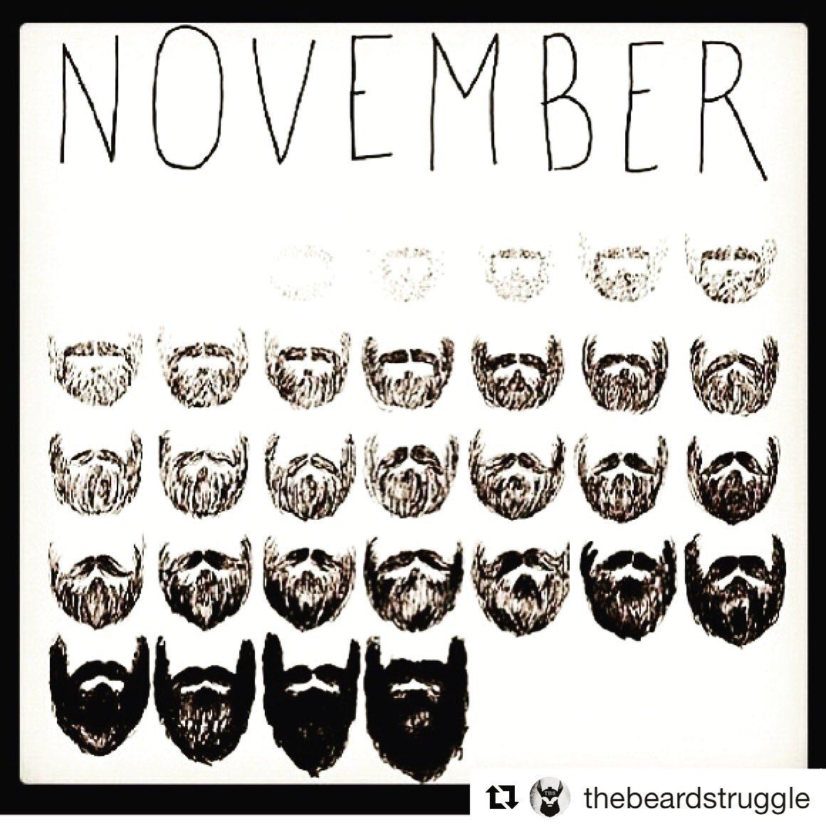 After pink October ..Novembeard..#octobrerose #novembre #breastcancer #BEARD #chirurgie #barbu <br>http://pic.twitter.com/W5fdyOejbb
