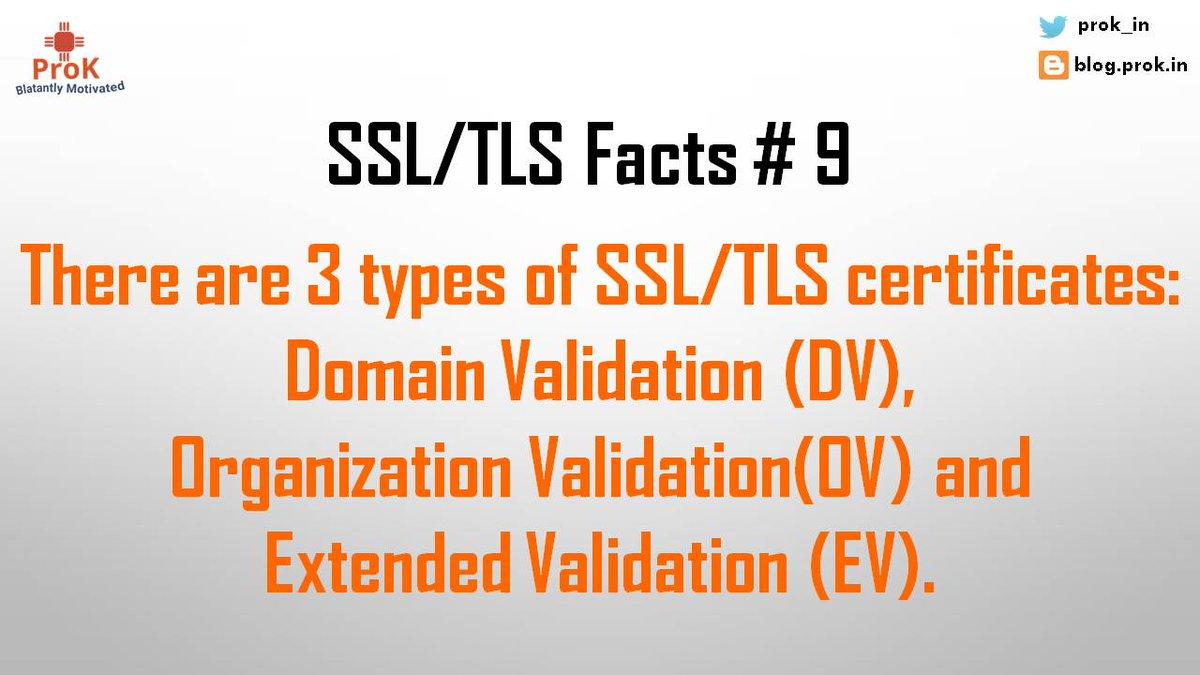 Prok On Twitter Types Of Ssltls Certificates Dv Ov Ev