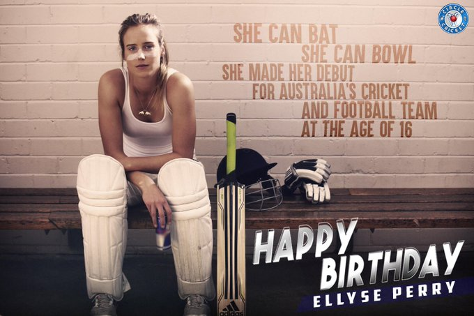 A delight for every cricket fan Happy birthday, Ellyse Perry.